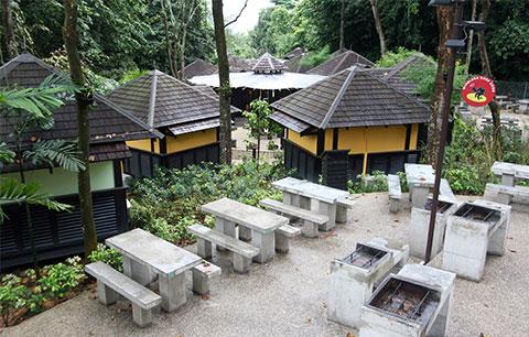 Kampung huts